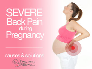 severe back pain during pregnancy